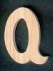 Lettre Q en bois
