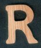Lettre R en bois