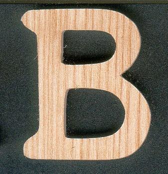 Lettres en bois lettre b en boishauteur 5 cm a coller - Grosse lettre en bois a peindre ...