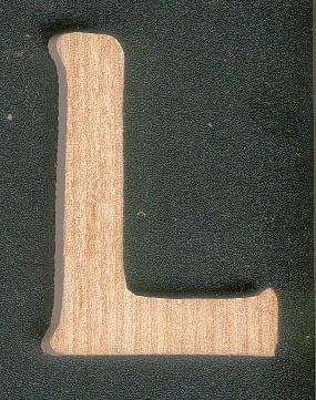 Lettre L en bois a peindre et a coller