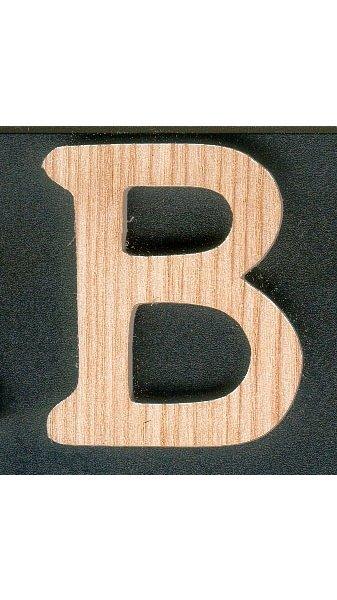 Lettre B en boishauteur 5 cm a coller