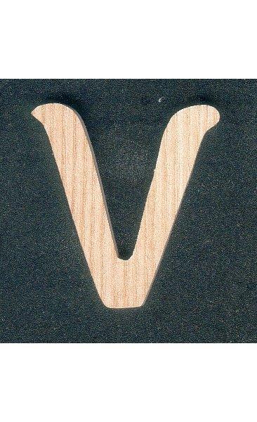 Lettre V en bois