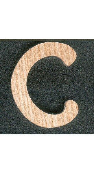 Lettre C en bois