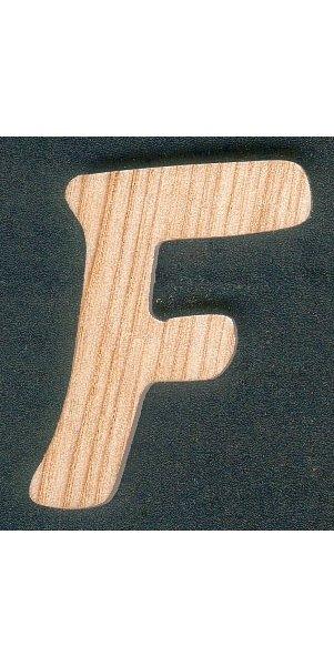 Lettre F en bois