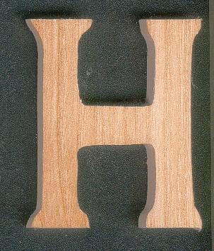 lettres en bois lettre h en bois a peindre et a coller. Black Bedroom Furniture Sets. Home Design Ideas