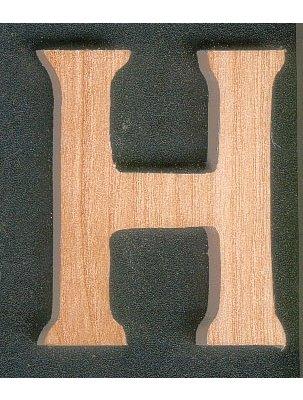 lettres en bois 5cm lettre h en bois a peindre et a coller. Black Bedroom Furniture Sets. Home Design Ideas