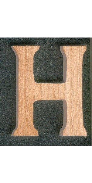 Lettre H en bois a peindre et a coller