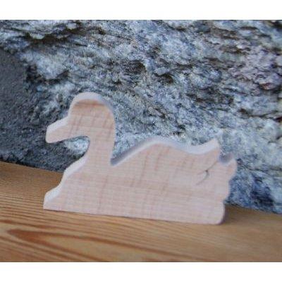 marque place cygne theme nature bois de hetre massif fait main