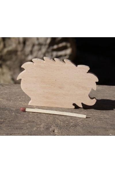 marque place herisson mariage anniversaire theme foret ou nature bois de hetre massif fait main