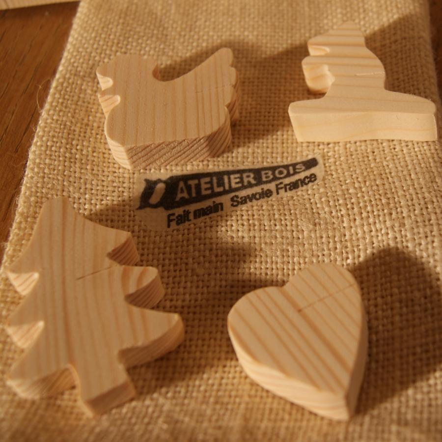 Marque place marmotte en bois d'épicéa massif, réutilisable, à décorer, par 10, porte nom mariage theme nature montagne fait main