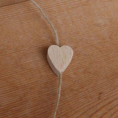 perle bois coeur V a decorer mobile, suspension, guirlande