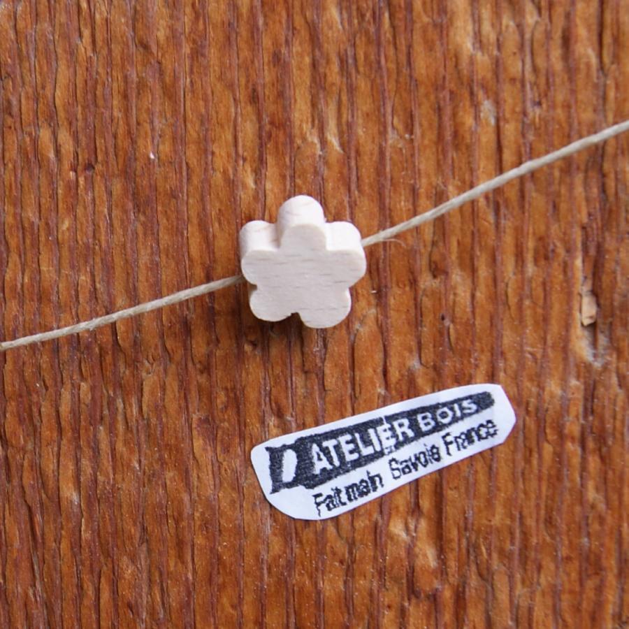 perle bois massif fleur a peindre collier enfant, guirlande, fait main