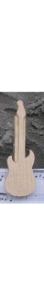 pince à partition guitare electrique, marque place, cadeau musiscien guitariste bois massif fait main