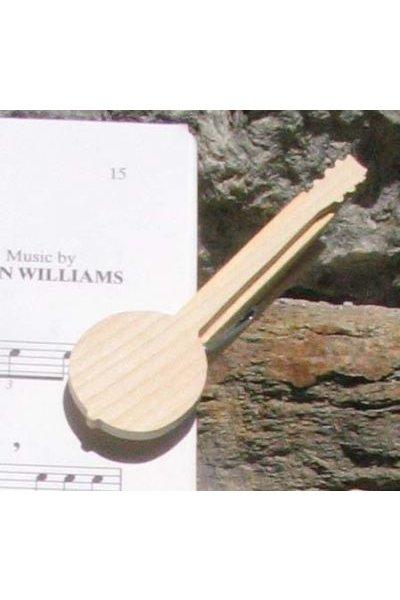 pince à partition banjo cadeau musicien bois massif fait main
