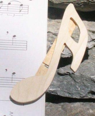 pince à partition double croche bois massif fait main cadeau musicien