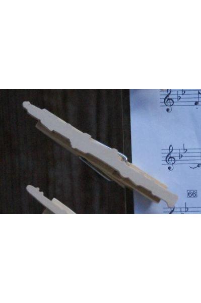 pince à partition hautbois bois massif fait main cadeau musicien hautboîste