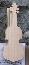 pince à partition violon cadeau violonniste bois massif fait main
