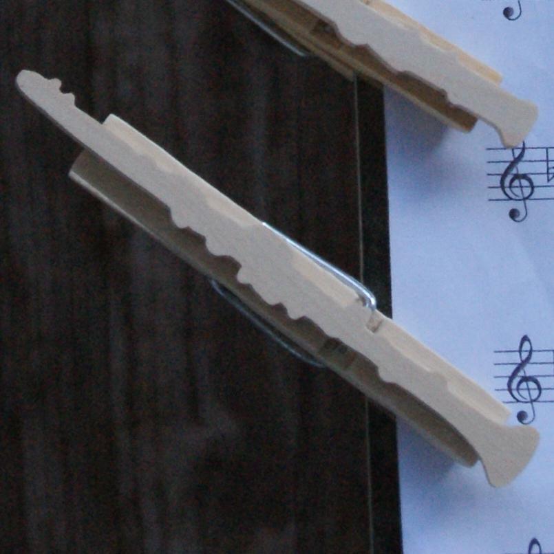 pince à partition clarinette bois massif fait main cadeau musicien clarinettiste