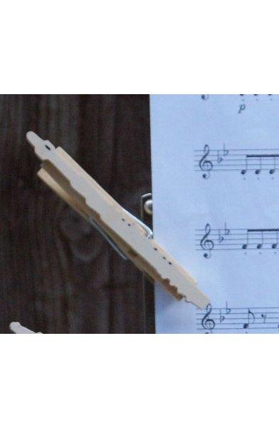pince à partition flute traversiere, bois massif fait main, cadeau flutiste