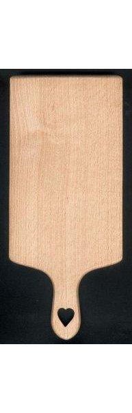 Planche à découper motif coeur cadeau saint valentin, bois de hetre massif