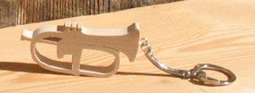 porte clef instrument de musique, bugle bois massif cadeau original musiscien, fabrication artisanale
