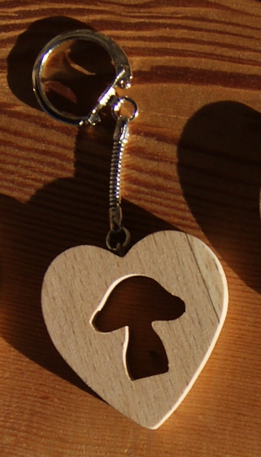porte clef coeur et champignon