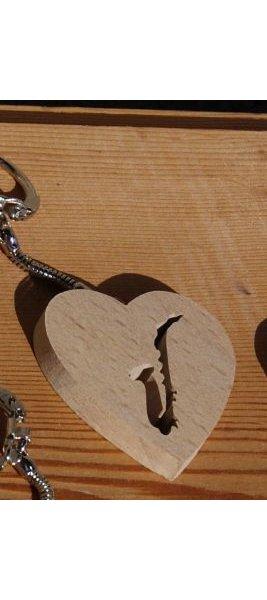 porte clef coeur et saxophone, cadeau saxophoniste, fait main