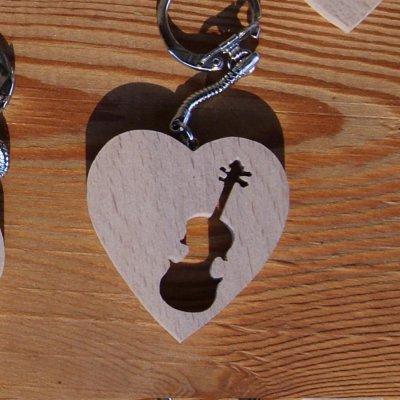 porte clef coeur et violon fabrication artisanale