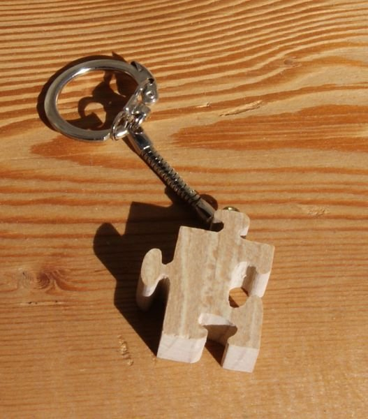 porte clef puzzle bois massif fait main
