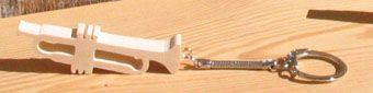porte clef trompette en bois massif, cadeau original et utile pour musicien trompettiste, fait main
