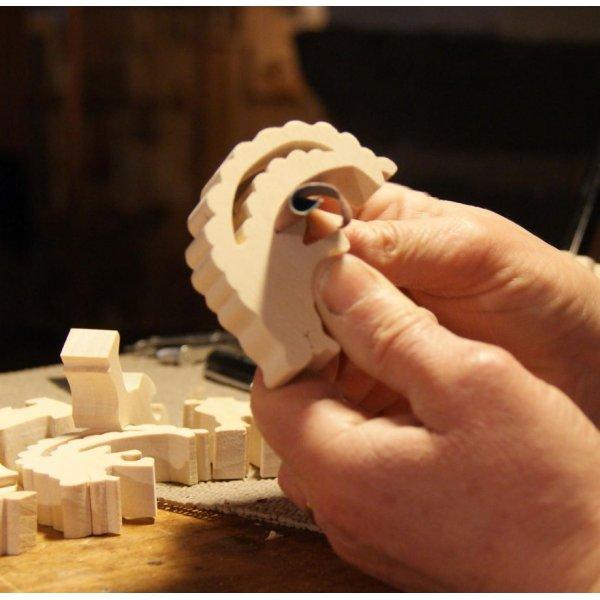 Puzzle en bois coccinelle 3 pièces Hêtre