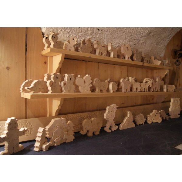 Puzzle en bois coccinelle 3 pièces Hêtre, l'ami des jardins
