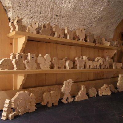 Puzzle en bois Grand Tétras ,coq de bruyere en bois de hetre massif, fait main, animal de montagne