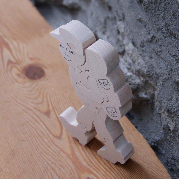 randonneur puzzle 8 pieces en bois de hetre massif fabrication artisanale cadeau randonnée pédestre, montagne
