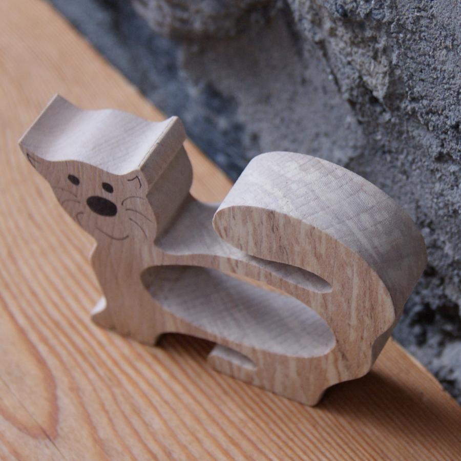 Rond de serviette chat, fabrication artisanale bois massif