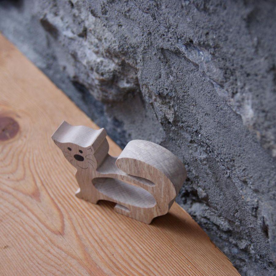 En bois rond de serviette chat fabrication artisanale - Rond de serviette en bois a decorer ...