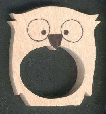 Pin rond de serviette pingouins en metal argente rond de - Rond de serviette en bois a decorer ...