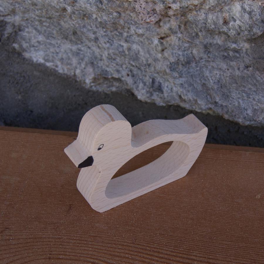 En bois rond de serviette canard ou caneton en bois a - Rond de serviette en bois a decorer ...