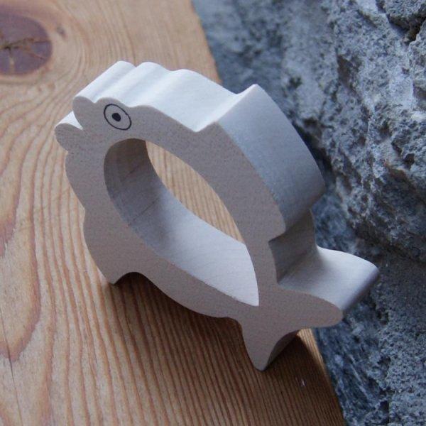 Rond de serviette poisson fabrication artisanale bois massif