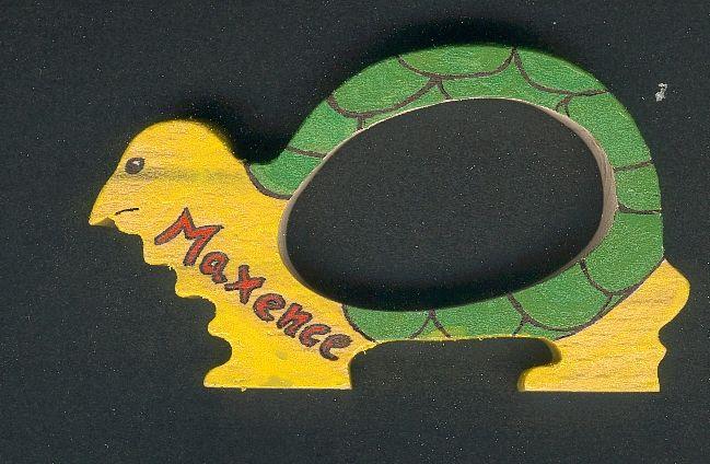 Rond de serviette tortue fait main bois massif