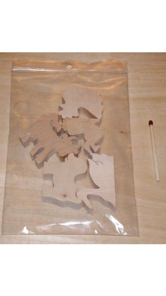 Sachet 5 figurines bois theme ferme