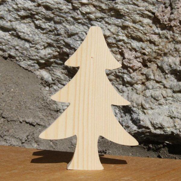 Sapin de Noel 10 cm en bois massif a peindre a poser epaisseur 20mm, fait main