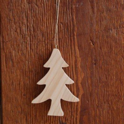 Sapin de Noel 10 cm en bois a peindre a suspendre