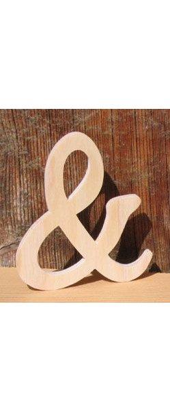 signe and 8cm, esperluette en bois a coller