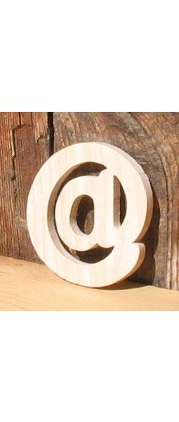 signe arobase hetre massif fabrication manuelle artisanale