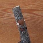 Bague cabochon en bois forme coeur Noyer largeur 14mm
