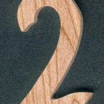 Chiffre 2 en bois 5 cm marquage