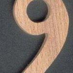 Chiffre 9 ht 10cm bois marquage