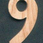 Chiffre 9 en bois 5 cm a peindre