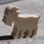 Figurine miniature chèvre en bois à décorer